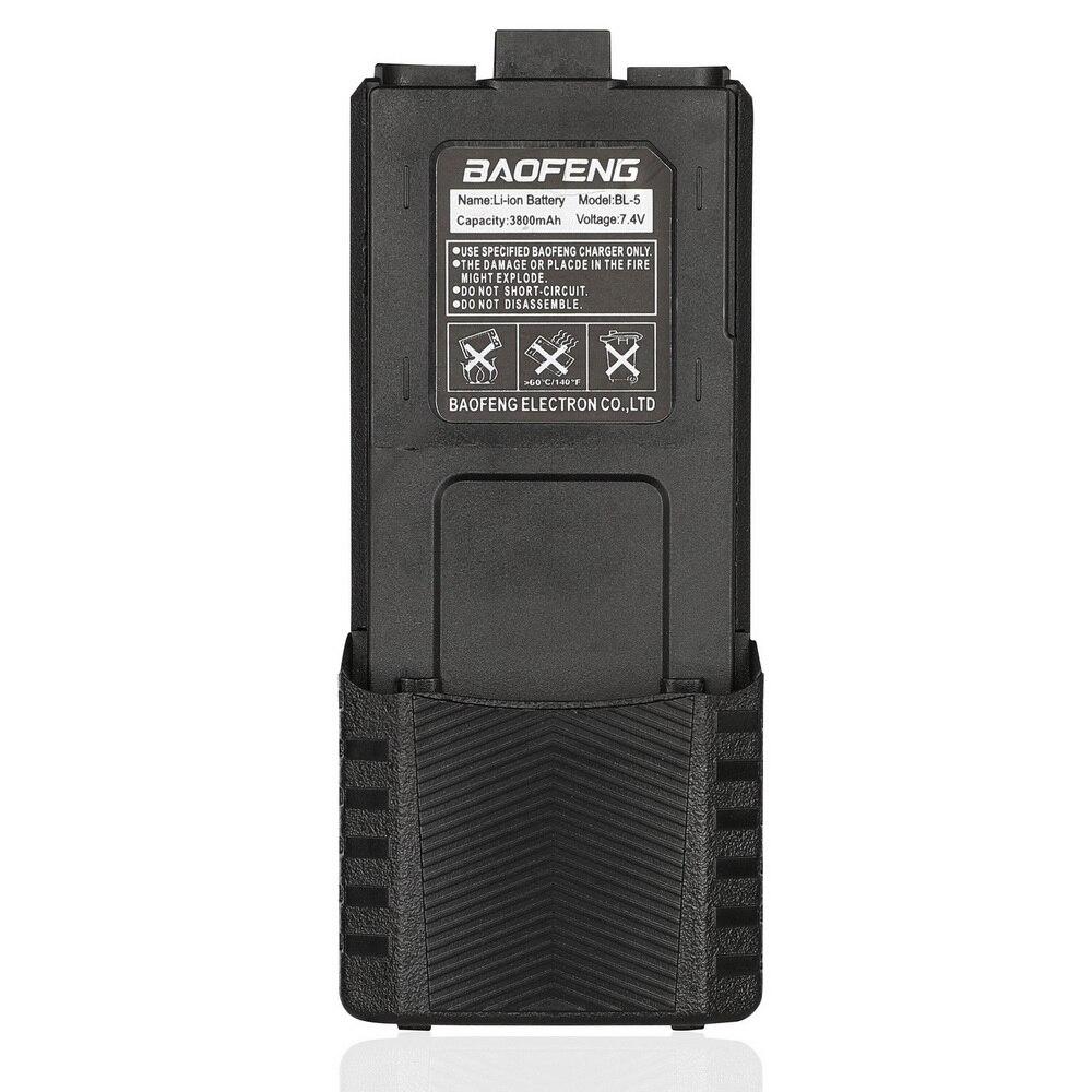 Baofeng batterie talkie walkie haute capacité 3800mAh pour radio bidirectionnelle UV 5R UV 5RE UV5RE batterie boîte Baofeng accessoires ES UK|Pièces et accessoires de talkie-walkie| |  -