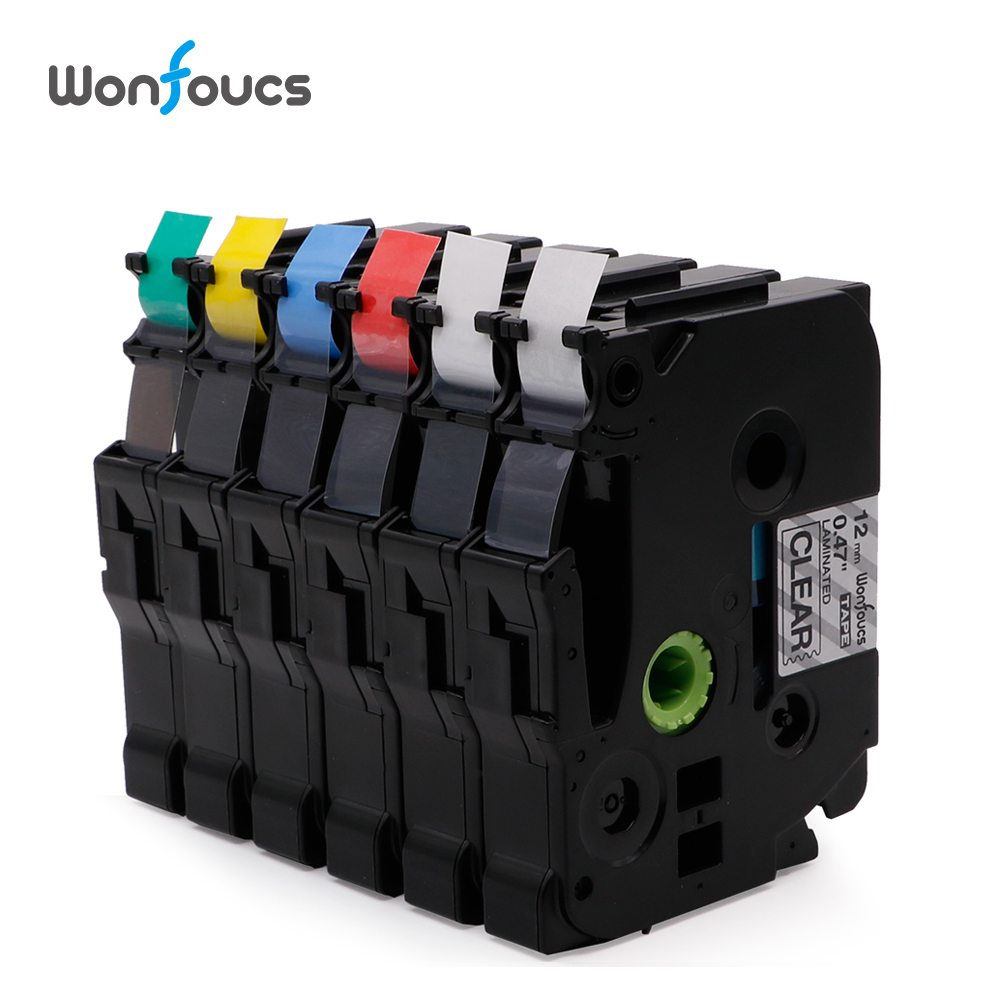 Wonfoucs Compatible TZe231 Brother tze Tapes tz231 tze-231 tz131 For P-Touch Printer