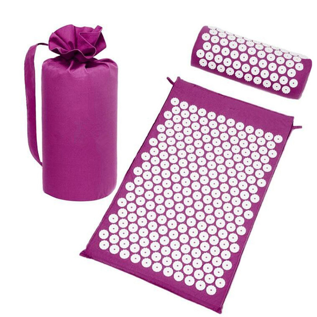 3 in 1 Lotus Acupuncture Mat Massage Yoga Mats Fitness Massage Cushion Acupuncture Massage Mat Acupressure Mat and Pillow Set
