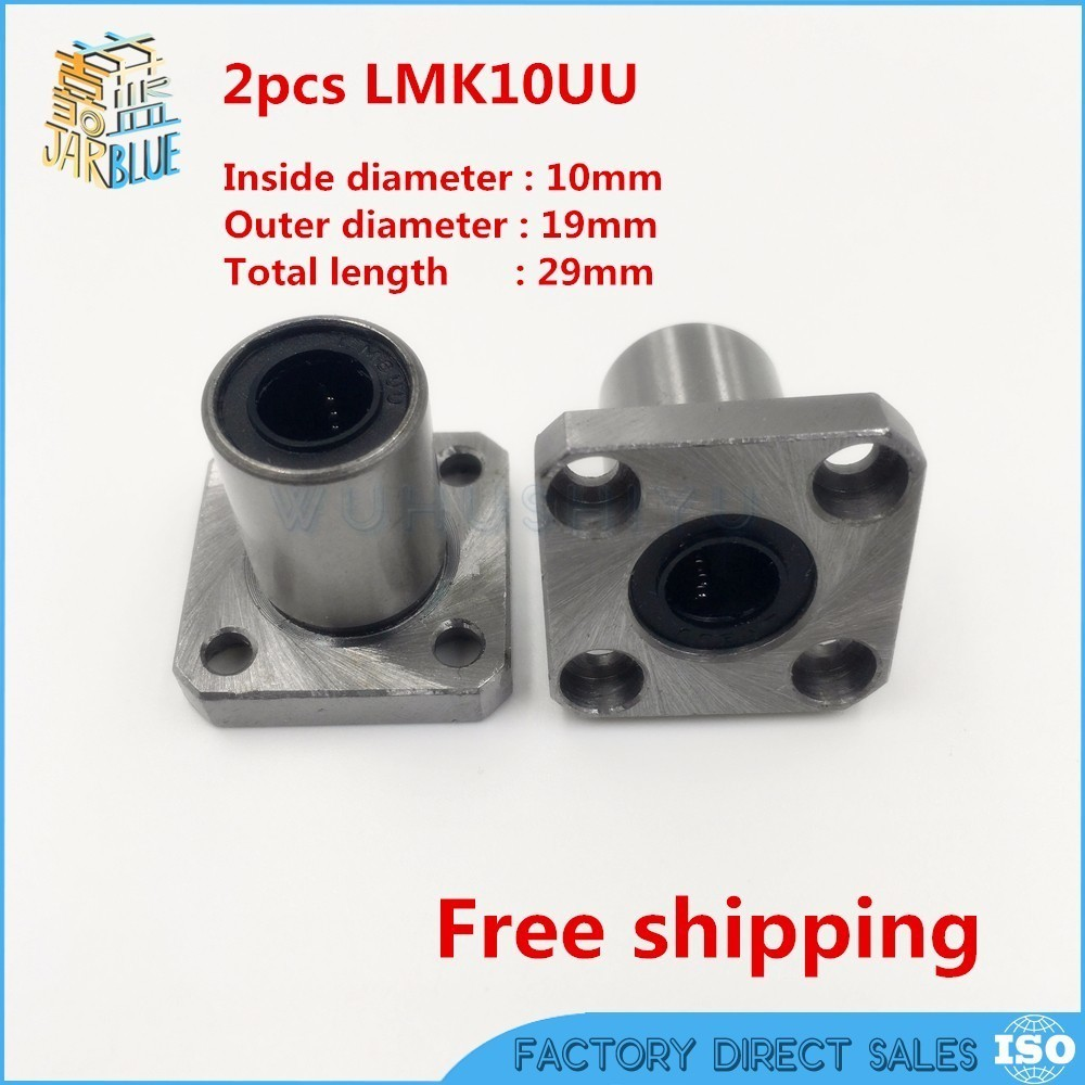 2 pcs Free shipping LMK10UU 10mm flange bearing CNC Flange Linear Bearings Flange Linear Bush LMK10 chrome polished bathroom waterfall spout basin faucet single handle mixer tap deck mounted