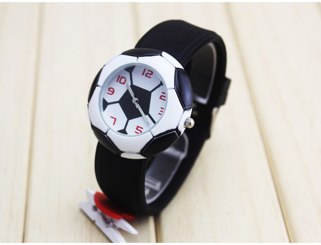 Waterproof Kid Watches Children Silicone Wristwatches football Brand Quartz Wris