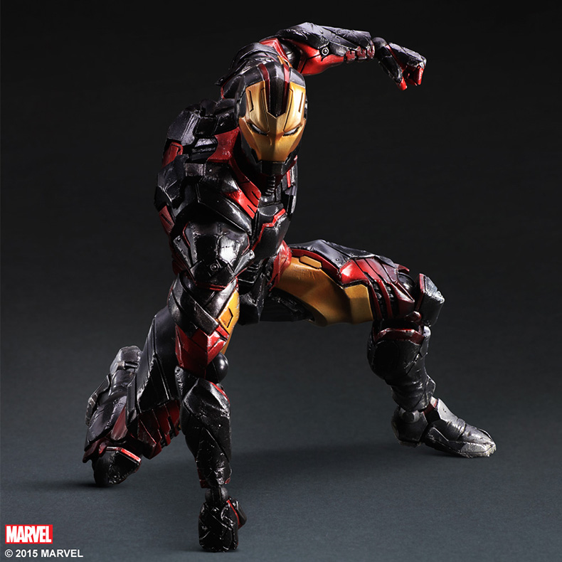 SQUARE ENIX Variant Play Arts Kai Iron Man PVC Action Figure Collectible Model Toy 35cm play arts kai street fighter iv 4 gouki akuma pvc action figure collectible model toy 24 cm kt3503