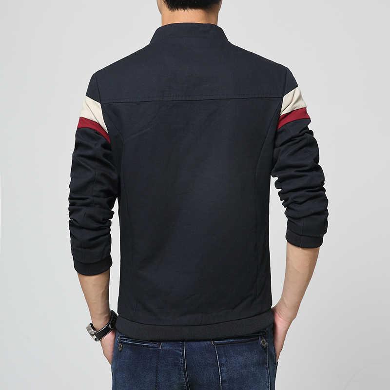 Новинка 2017 осенние куртки Модный хлопковый Повседневный для мужчин куртка спортивная куртка мужские куртки и пальто плюс размер 5XL