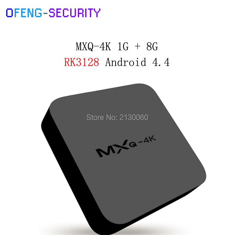 10pcs/lot Smart Tv Converter MXQ4K Smart TV Box RK3128 Quad-core Set Top Box Android 4.4 Kodi 1GB/2GB 8GB/16GB HD 1080P
