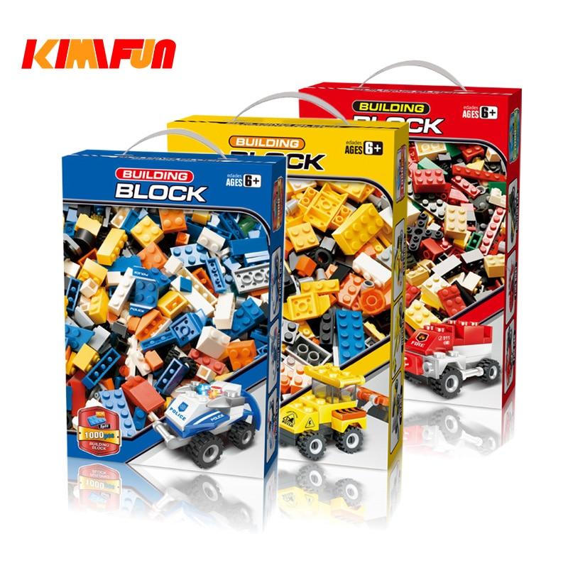 1000 stücke Ziegel DIY Designer Kreative Klassische Ziegel Bausteine Kit Spielzeug Kinder Pädagogisches Geschenk Kompatibel Legoings