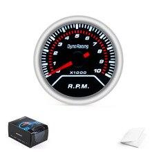 """Dynoracing """" 52 мм дымовая Линза Автомобильный Тахометр 0-8000 измеритель об/мин радио с фонариком автомобильный метр"""