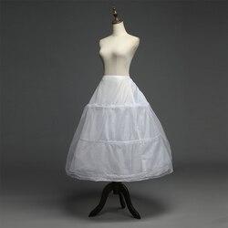 Em Estoque 3 Hoops Crinolina Anáguas para vestido de noiva Acessórios Do Casamento Frete Grátis Barato Underskirt Para vestido de Baile 2018