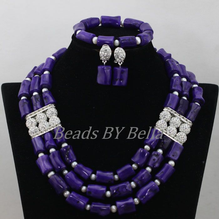 African Coral Bead Necklace Set Fashion Nigerian Wedding Purple Coral Beads Necklace Christmas Gift New Free Shipping ABF834African Coral Bead Necklace Set Fashion Nigerian Wedding Purple Coral Beads Necklace Christmas Gift New Free Shipping ABF834