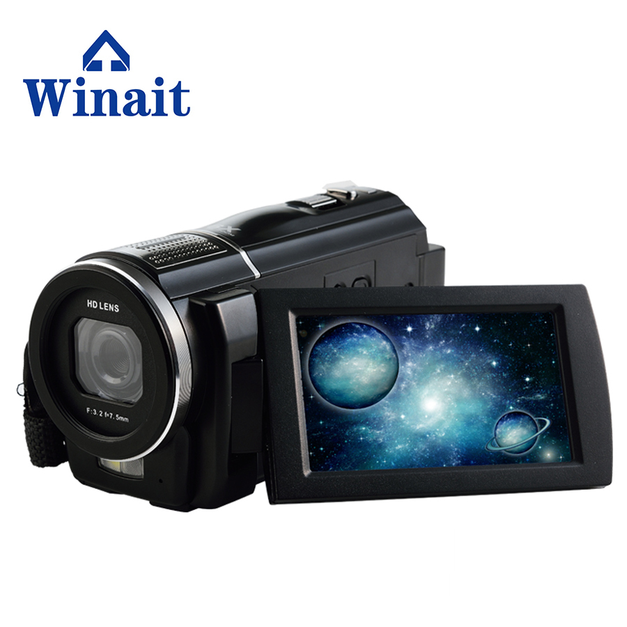 Digital Video font b Camera b font 24MP 16X Anti shake 3 0 Rotatable Touch font