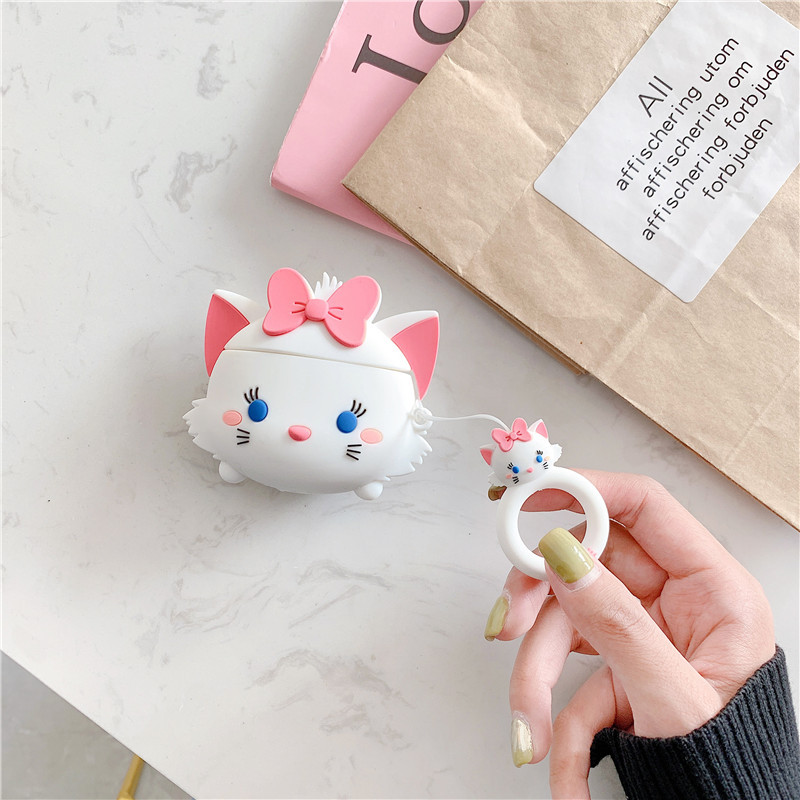 Image 4 - For AirPods Case Cute Cartoon Lovely Pig Cat Soft Silicone Wireless Bluetooth Earphone Cases For Apple Airpods 2 Cover Funda-in Earphone Accessories from Consumer Electronics