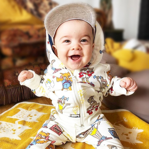 Image 1 - TinyPeople Brand Baby Boy Clothing Suits Autumn Casual Baby Girl Clothes Sets Children dress Hoodie Sports pants Spring Kids Set