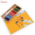 Matemáticas montessori juguetes de madera puntos tablas de ejercicio con materiales de caja números Montessori niños juguetes educativos juegos MA146-3