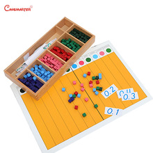 mathematics montessori wooden toys Dot Exercise Boards With Box Materials Montessori Numbers kids Educational Toys Games MA146-3