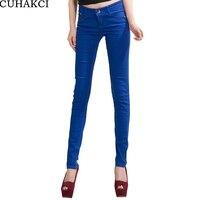 Gorące Dżinsy kobiet spodnie damskie sexy wiosna elastyczna cukierki kolorowe kobiece ołówkowe spodnie Jean spodnie K104 odcień światła