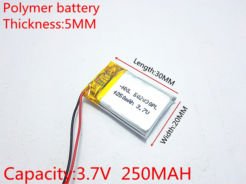 (free shipping)Polymer lithium ion battery 3.7 V, 502030 can be customized wholesale CE FCC ROHS MSDS quality certification three wire battery 3 7v 3000mah polymer lithium ion battery li ion battery for tablet pc 7 inch mp3 mp4 [357095] free shipping