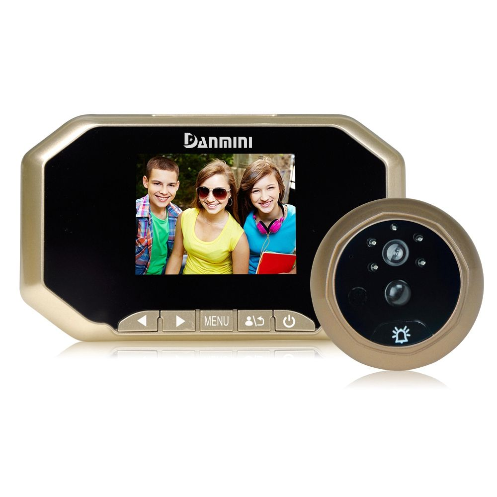 LCD 3.0 inch Digital Doorbell Peephole Viewer Camera Viewer PIR Motion Detection Door Eye Video Record Night Vision(Go