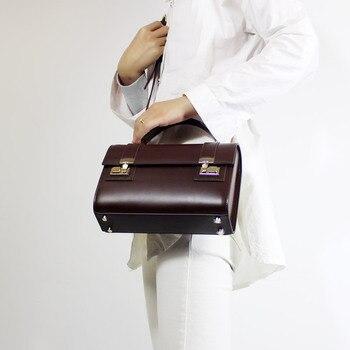 Designer's Unique Design Vintage Women Black Brown Handbags Lady Cow Leather Messenger Shoulder Bag Big Brand Style OL Bags