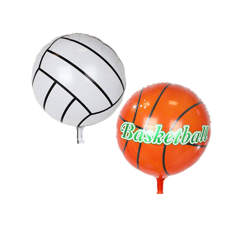 18inch volleyball Basketball Foil Balloons Inflatable classic toys Balloon happy