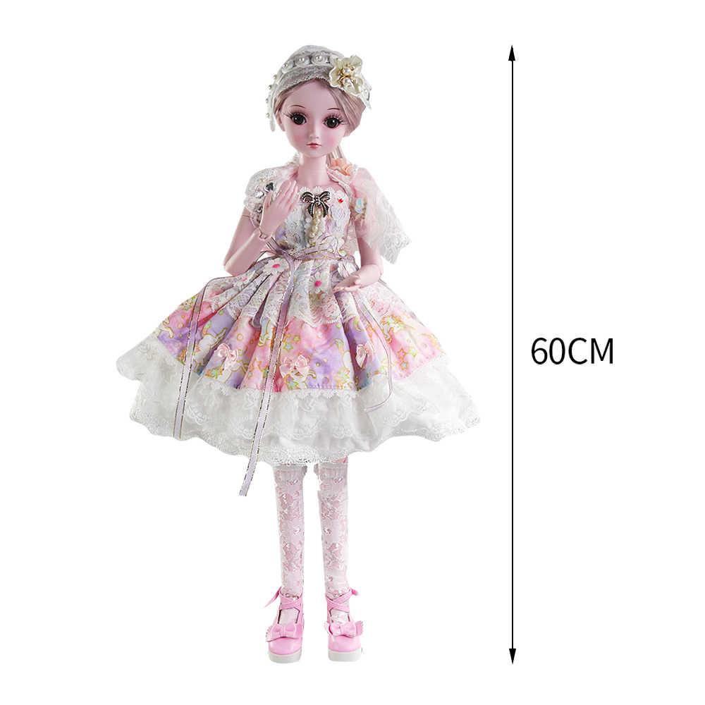 UCanaan 23.6 ''19 Articulações com Roupa roupas Sapatos Boneca SD BJD Peruca de Cabelo de Maquiagem para o Presente Meninas e Bonecas coleção