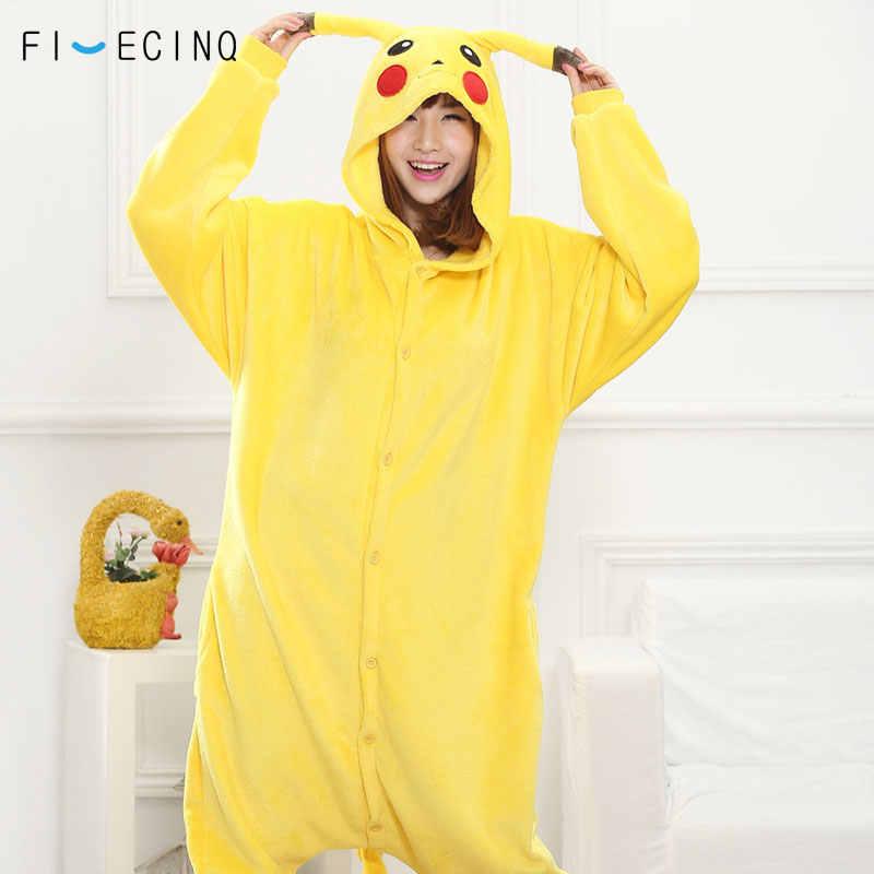 5eadbe9dd3 Animals Kugurumi Anime Cosplay Costume Pajama Onesies Winter Women Men  Carnival Game Jumpsuit Pokemon Unicorn Stitch
