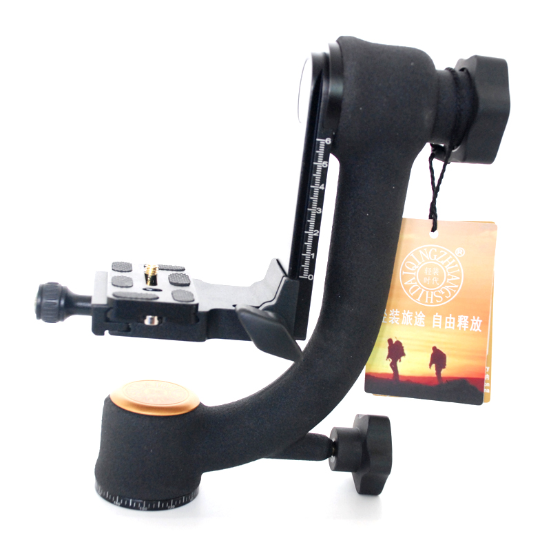 QZSD Q45 Panoramic Boom Head Professional 360-degree Panorama Gimbal Tripod Head Bird-Swing For DSLR Video Camera Telephoto Lens new professional aluminum gimbal tripod head for heavy telephoto lens dslr camera 360 panoramic swivel tripod head up to 22lbs