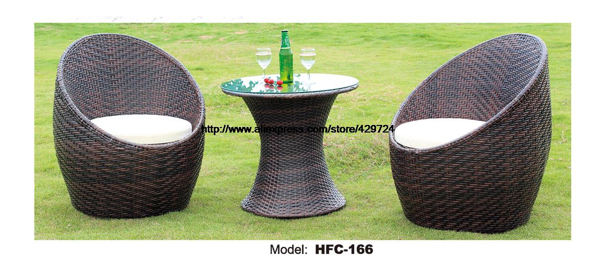 Creative Elegant Rattan Glass Table Chair Table Set Outdoor Wicker Leisure Garden Balcony Furniture Combination Table Chair Set
