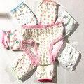 10 unids/lote algodón bragas chicas ropa interior hijos bebé infantiles niños menores de calzoncillos de encaje bragas de los niños ZJ-C23S8