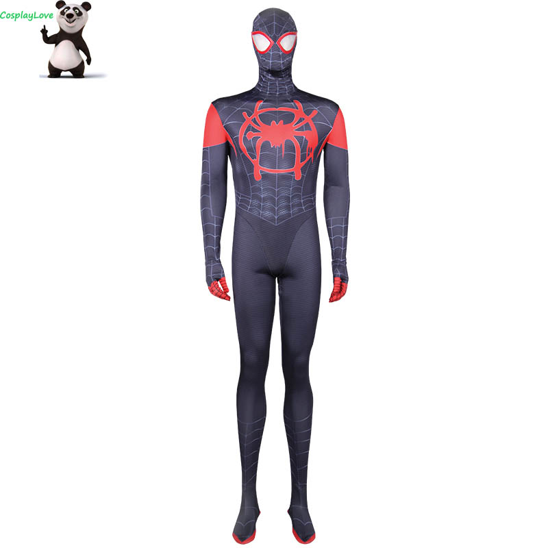 Marvel Animated Series Ultimate Spider-Man Miles Morales Cosplay Costume Jumpsuit Layca Zentai For Christmas CosplayLove