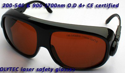 Laser safety eyewear200-540nm & 900-1700nm O.D 4+  CE certified, bigger lens and frame 2940nm laser safety eyewear 2940nm o d 4 ce certified