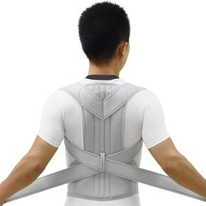 Image 4 - Correttore di postura dargento scoliosi tutore posteriore spina dorsale corsetto cintura spalla terapia supporto scarsa postura correzione cintura uomo
