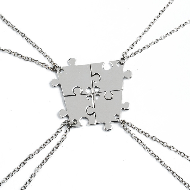 Collana Set Per La Famiglia Incastro Puzzle Collana Pendente Amicizia  Gioielli Collane BFF Best Friends Girocolli