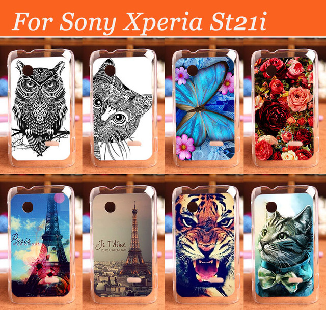 new style e6bc6 2edce US $1.9 | DIY Fashion Hard 3D Printing Case Phone Cover For Sony Xperia  Tipo ST21i Shell Back Case protector Free shipping-in Half-wrapped Case  from ...
