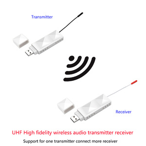 Image 2 - 200 m uhf hifi 디지털 무선 오디오 송신기 수신기 3.5 오디오 케이블 전화 컴퓨터 전력 증폭기