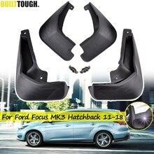 Dành Cho Xe Ford Focus 3 MK3 Hatchback 2011   2018 Bộ Chắn Bùn Mudguards Mudflaps Bắn Cận Vệ 2016 2017 2015 2014 2013 2012