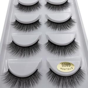 Image 1 - SHIDISHANGPIN 5 pairs mink lashes faux cils make up natural handmade mink eyelashes false eyelash extension makeup maquiagem