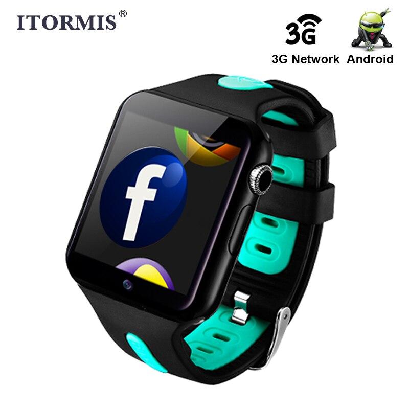 ITORMIS Android Bluetooth Smart Watch apoyo Wifi 3G WhatsApp Facebook red SIM TF tarjeta Smartwatch Teléfono para hombres mujeres niños
