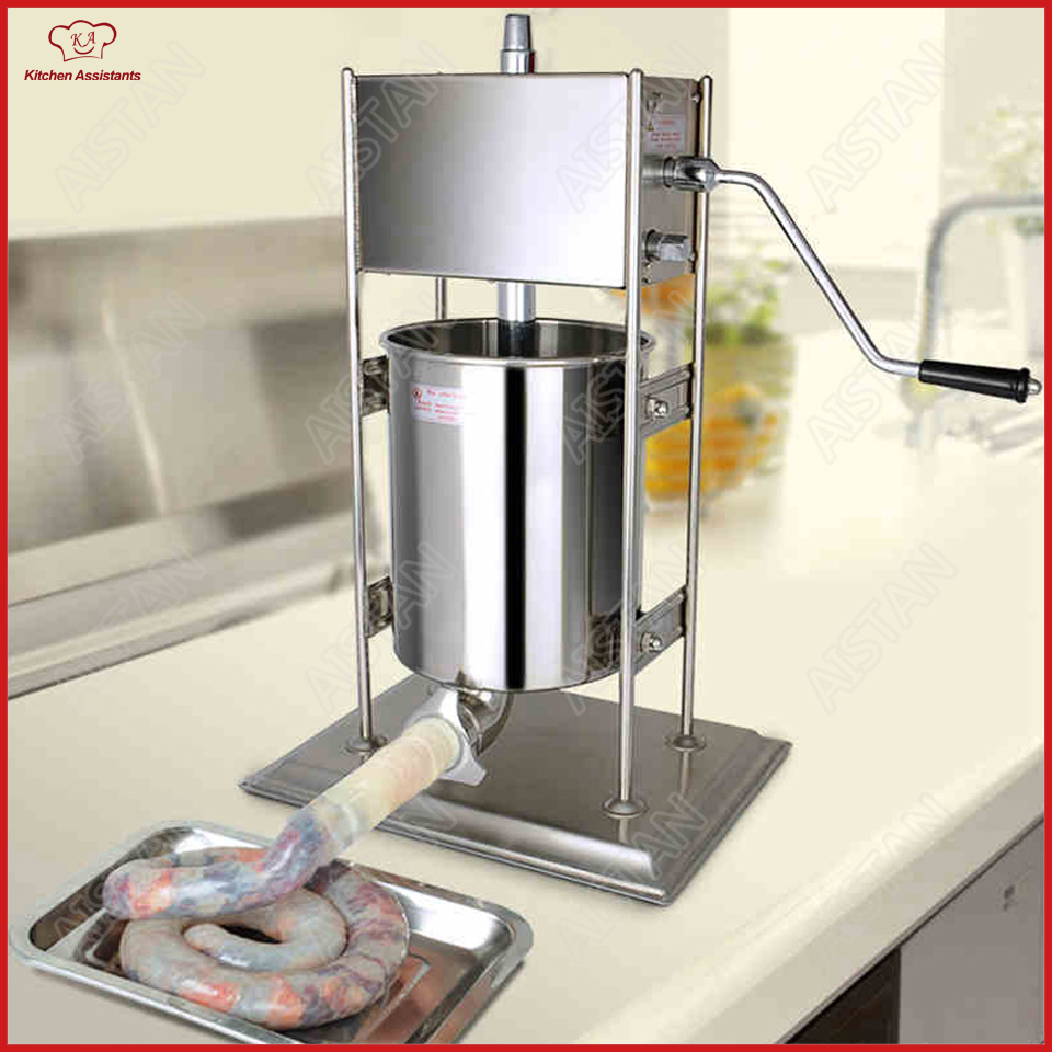 TV3L/5L/7L manual sausage stuffer maker machine with stainless steel nozzles цена и фото