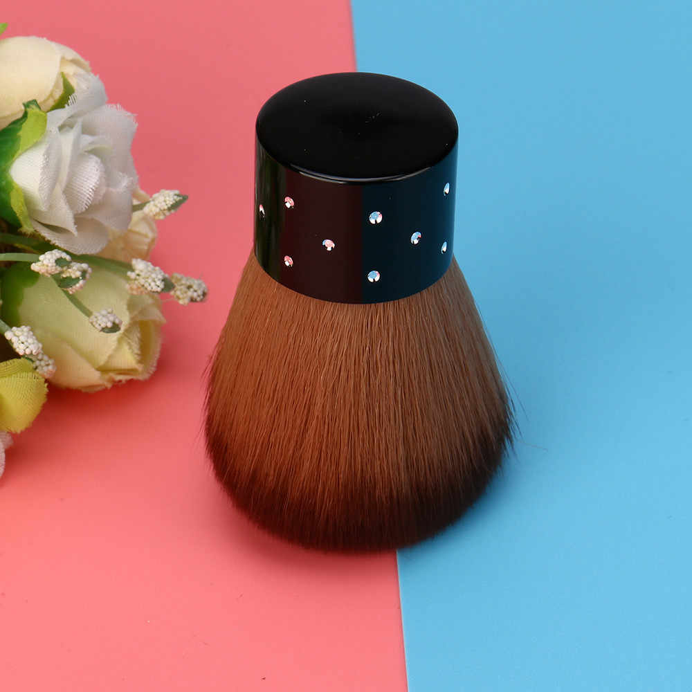 1 PC Nail Art Sikat Lembut Nyaman Kuku Debu Sikat Uv Gel Cat Kuku Sikat Nilon Rambut Wanita Profesional diy Alat Desain