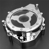 Aftermarket free shipping motorcycle parts Glass see through Engine Stator Cover For Suzu GSX1300R Hayabusa 1999 2015 CHROMED
