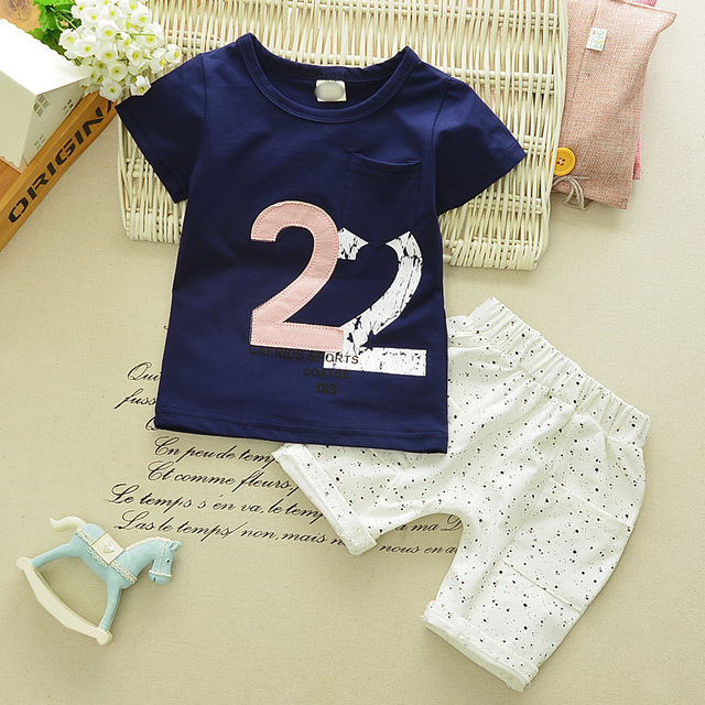 72b44b0eed64 Male Baby T shirts Suit New Girls Cartoon T shirt Shorts 2pcs Sets 0 ...