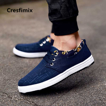 Cresfimix zapatos hombre men cool comfortable spring & autumn lace up shoes male plus size navy blue breathtable shoes a2340