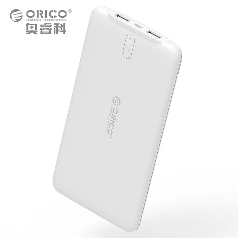 bilder für ORIC 10000 mAh Ultradünne Energienbank Externe Batterie Dual USB Ladegerät für iPhone iPad Tablet