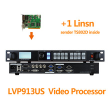 Indoor video switcher with 1 linsn ts802d control card like novastar vx4s controller for indoor p2
