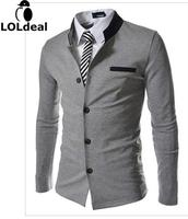2014 New Winter Influx Of Foreign Trade Goods Spell Color Collar Korean Slim Small Suit Jacket