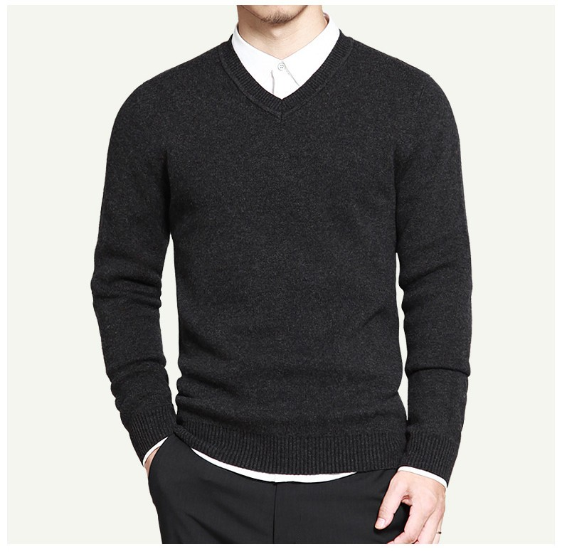 11 colors mens pullover sweaters Simple style cotton knitted V neck long sleeve sweater jumpers size M-4XL Muls brand MS16004