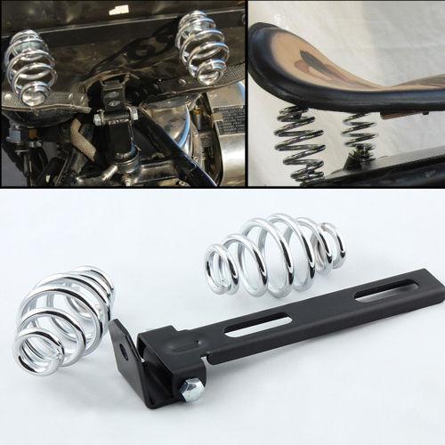 3 Solo Seat Springs Bracket Mounting For Harley Chopper Bobber Custom Motos Motocicleta La Moto Motorrad