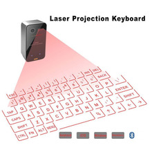 цена на 2017 NEW Portable Bluetooth Wireless Virtual Laser Keyboard Mini Bluetooth Projection Keyboard for Windows For Mobile Phones