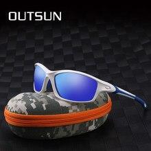 22bbd9d1a0f84 OUTSUN hombres polarizados UV400 lente TR90 gafas Marca Diseño protección  solar gafas de sol deporte F8633