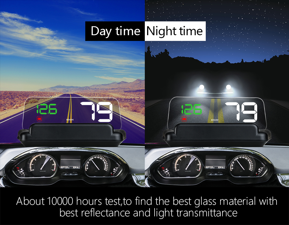 com projeção de espelho digital carro velocidade