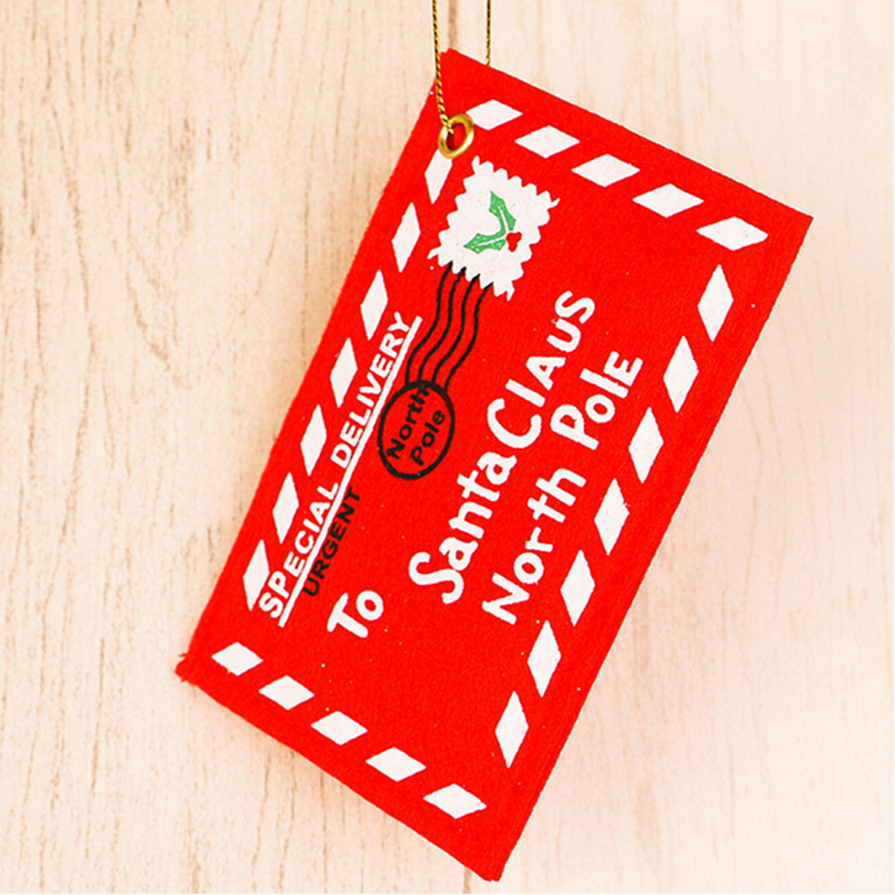 5Pcs Best Sale Red Christmas Envelope Christmas Greeting Cards Candy ...